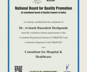 Avinash Deshpande Certificate 2020